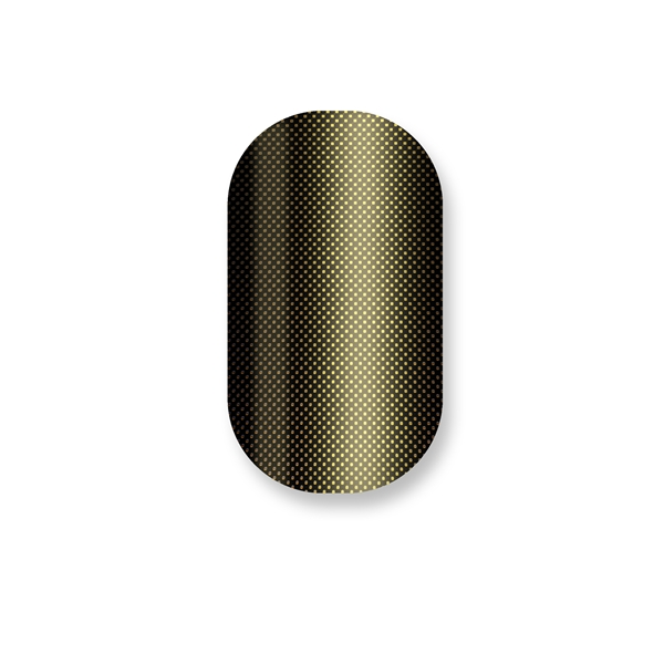 chrome nail, black, gold, chrome, tease