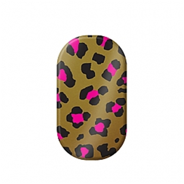 chrome nail, leopard, nail art, gold, pink, magenta, metallic