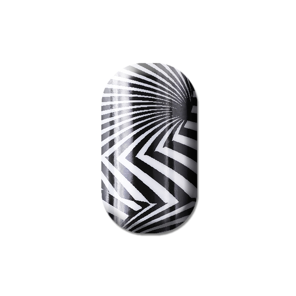 chrome nail, silver, white, black, nail art, lisa logan