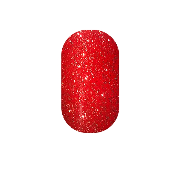 "Candy Apple Red Glitter Minx ""Jewelry to Your Toes"""