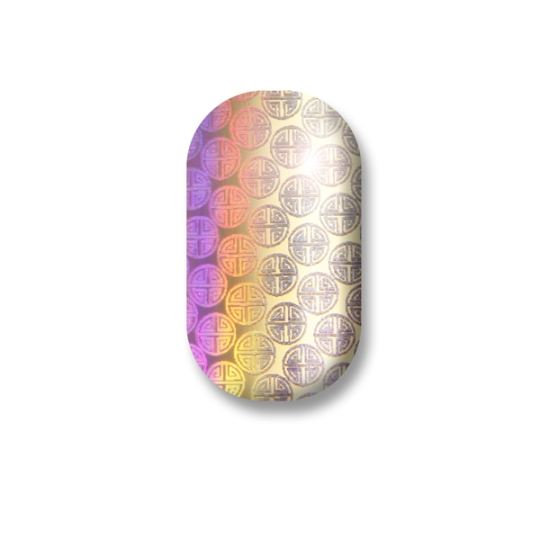 chrome nail, gold, holographic, marian newman
