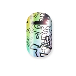 chrome nail, holographic, crime scene