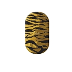 chrome nail, gold, matte gold, animal print, stripes, nail art, zoe vokis