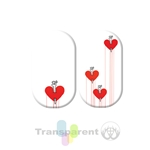 chrome nail, red, metallic red, metallic, transparent, heart