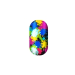 chrome nail, paint splatter, dots, holographic, nail art