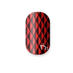 chrome nail, metallic red, blak, naja